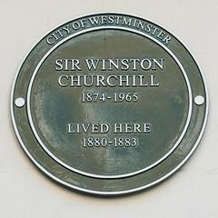 Photo of Winston Churchill green plaque