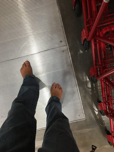 Shopping barefoot this weekend