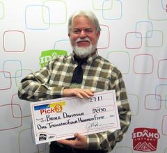 Bruce Davidson - $1,450 Idaho Pick 3