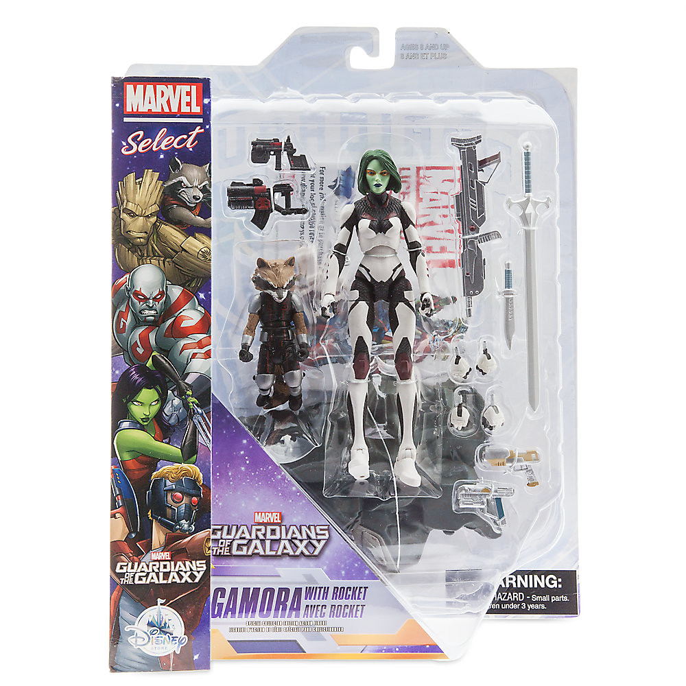 Marvel Select【星際異攻隊:葛摩菈、火箭浣熊】Guardians of the Galaxy Gamora with Rocket Raccoon 可動人偶作品