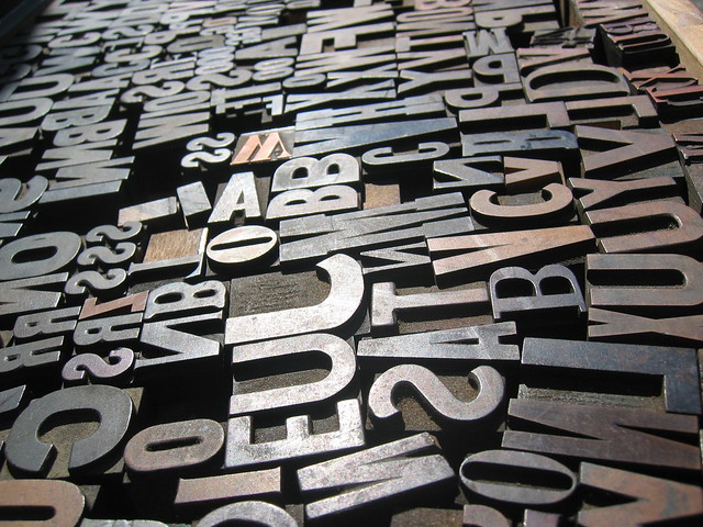 a sea of type