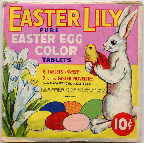Easter Egg Color Tablets, 1940's by Roadsidepictures