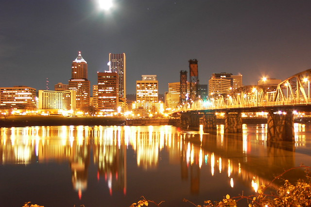 Portland skyline at night | Flickr - Photo Sharing!