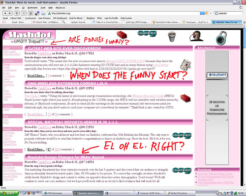 Slashdot April Fool's 2006