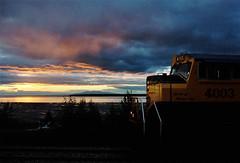 Alaska Railroad at Sunset, Anchorage