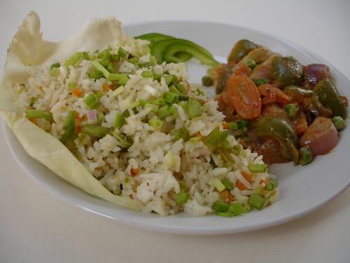 Peanut Flavored Vegetable Fried Rice