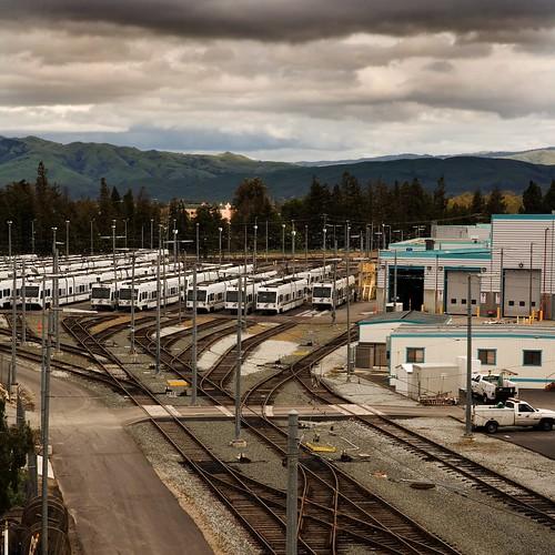 urban storm clouds landscape sanjose lightrail favs urbanlandscape vta ferropool img2000