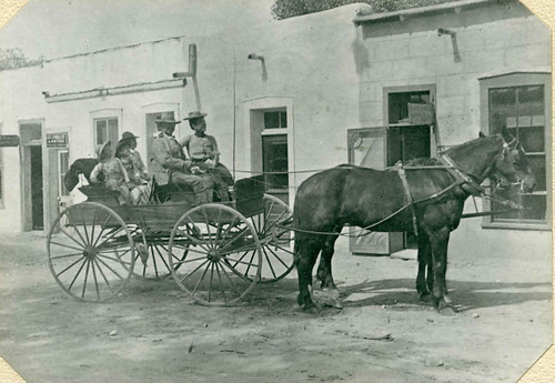 Rockfellow family in a parade in Tombstone, Arizona Territory, c. 1900