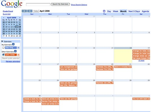 Tasks iCalendar in Google Calendar