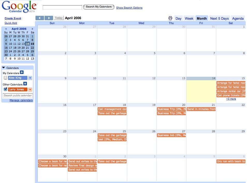 Icalendar On Google Web Designer Calendar Component