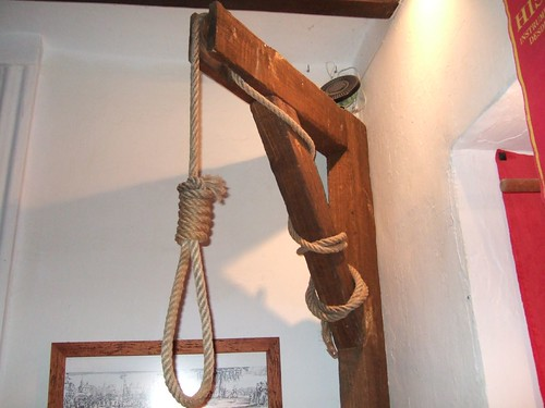 Noose at the Guadalest Torture Museum