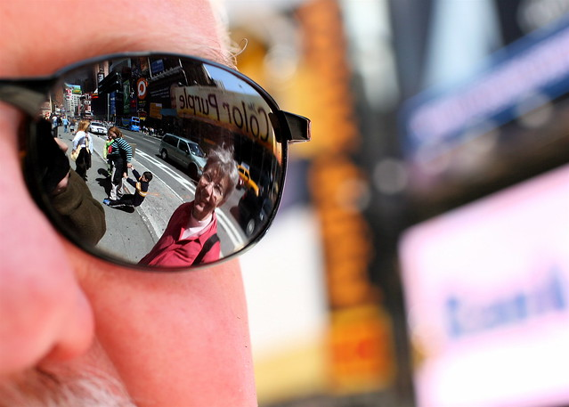 Anne reflected on Times Square