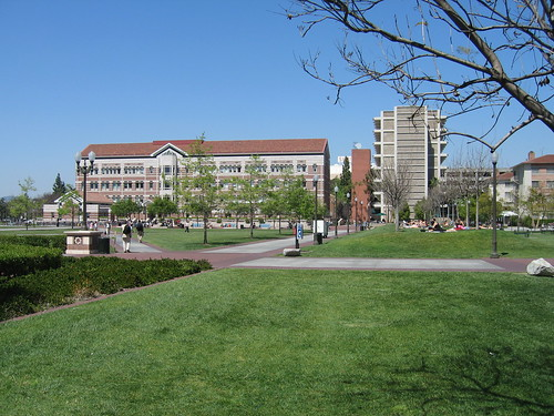 Campus on a spring day