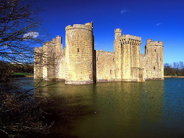 Bodiam Castle, East Sussex from Flickr via Wylio
