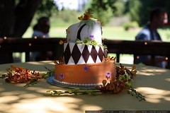 our crooked wedding cake