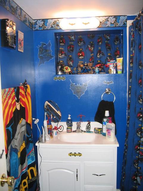 Batman bathroom flickr photo sharing for Batman bathroom ideas