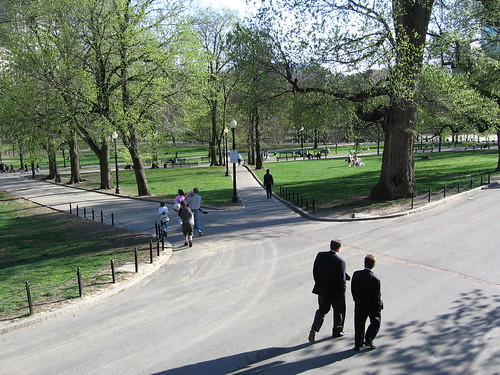 Boston Common in the spring