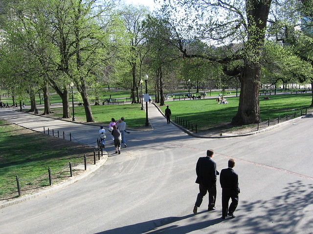 Boston Common in the spring