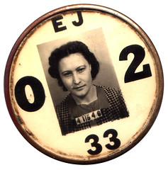 factory worker i.d. badge