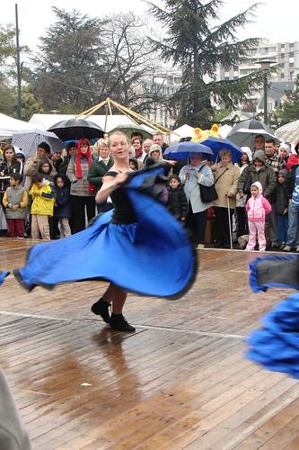 Dancing despite the rain width=