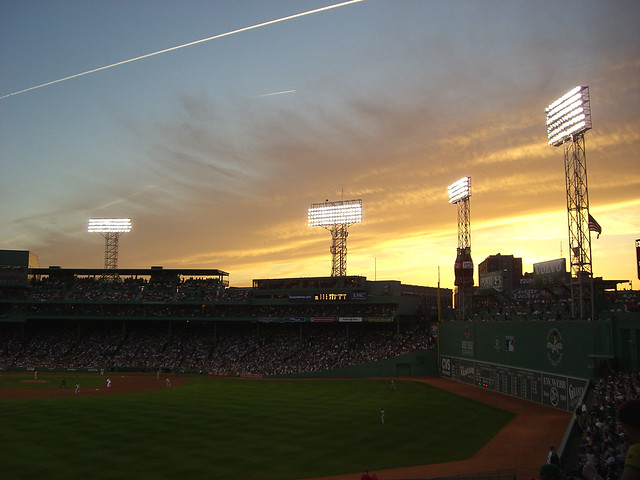 Sunset in the bleachers