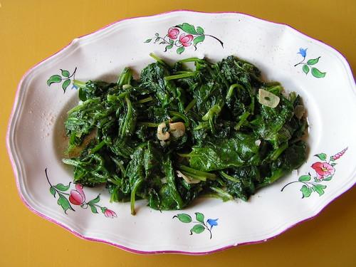 verse spinazie klaar maken