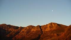 the moon over Chapman's Peak drive