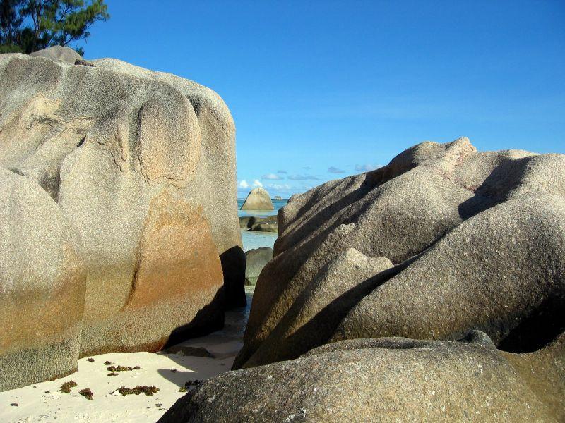 Rochers de granit à l'Anse Source d'Argent (La Digue)