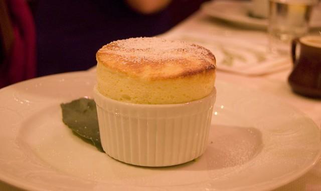 Dessert: Meyer Lemon Soufflé - a photo on Flickriver