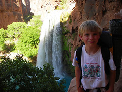 Brylan very happy to be at Havasupai