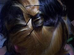 face(0.0), bun(0.0), french braid(0.0), forehead(0.0), braid(0.0), hairstyle(1.0), chignon(1.0), hair(1.0), brown hair(1.0), hair coloring(1.0),