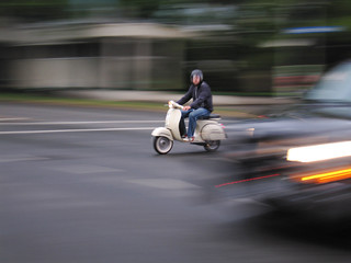 Slow Vespa Shot
