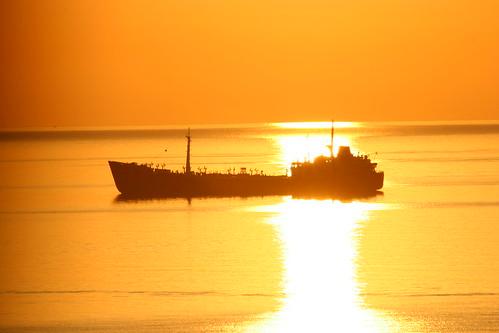 sea sunrise ships badge