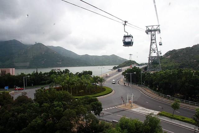 Leaving Tung Chung Skyrail station