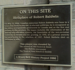Photo of Robert Baldwin black plaque