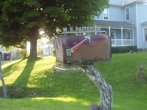mailbox landscape dusk farm mrcardboard