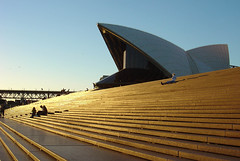 Golden steps to Opera House