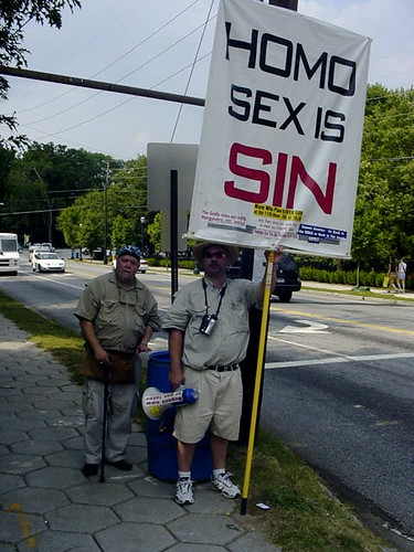 Homophobic Protestors (They need to get laid)