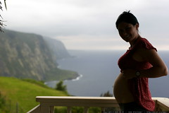 silhouette of our unborn child in hawaii inside rach…