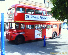 A lost-looking London bus