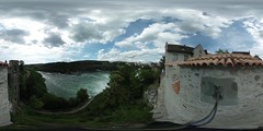 View from the castle Laufen am Rheinfall