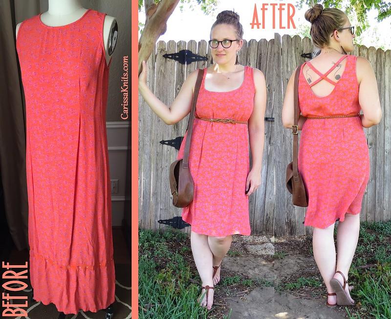 Orange You Glad Dress - Before & After