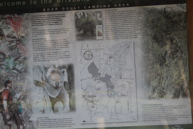 Boar Gully Camp Ground Information Board