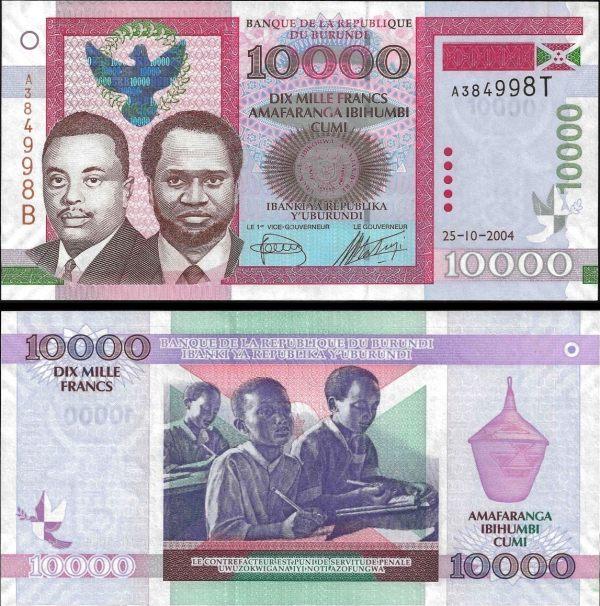 10 000 frankov Burundi 2004 Pick 43a