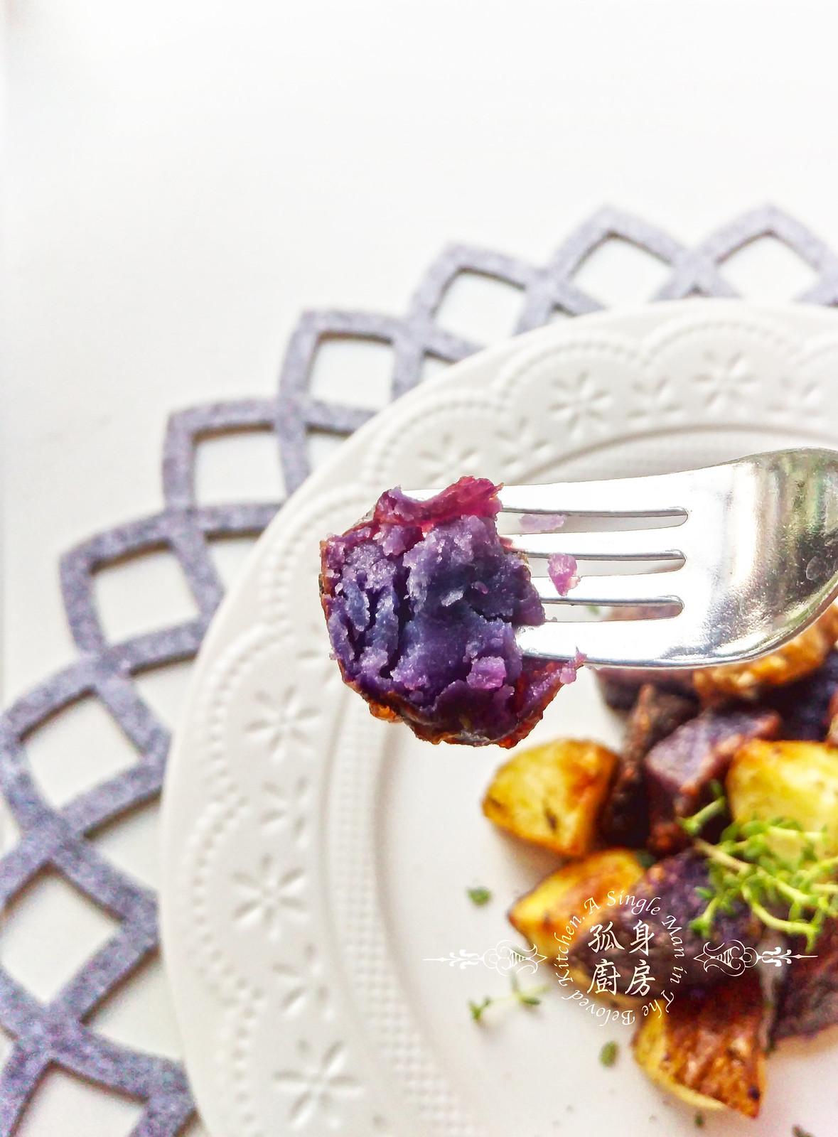 孤身廚房-香草烤雙色馬鈴薯──好吃又簡單的烤箱料理19