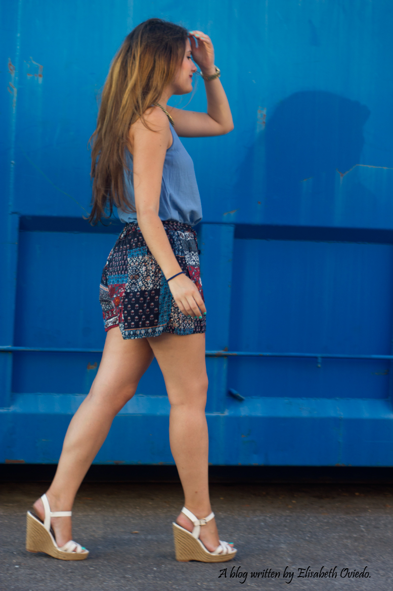 falda azul STRADIVARIUS HEELSANDROSES (4)