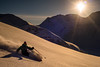 Sunset ride by Last Frontier Heliskiing