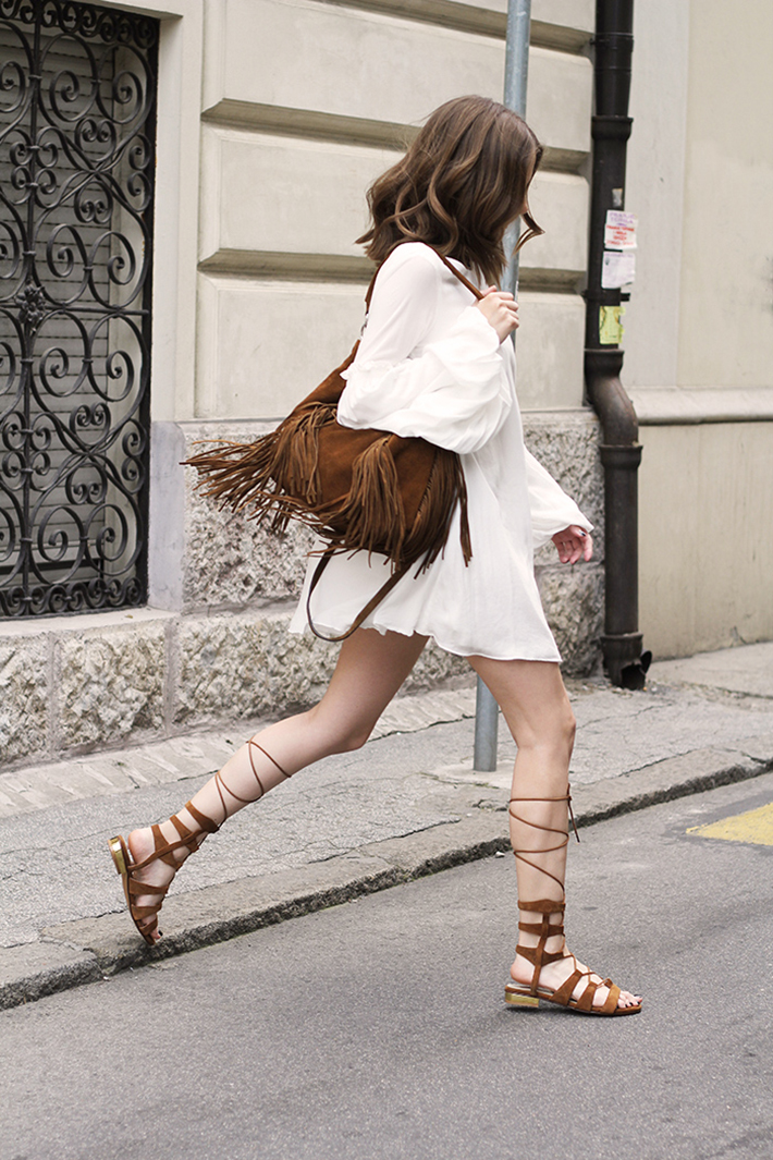 Gladiator Sandals Outfits Streetstyle Summer9