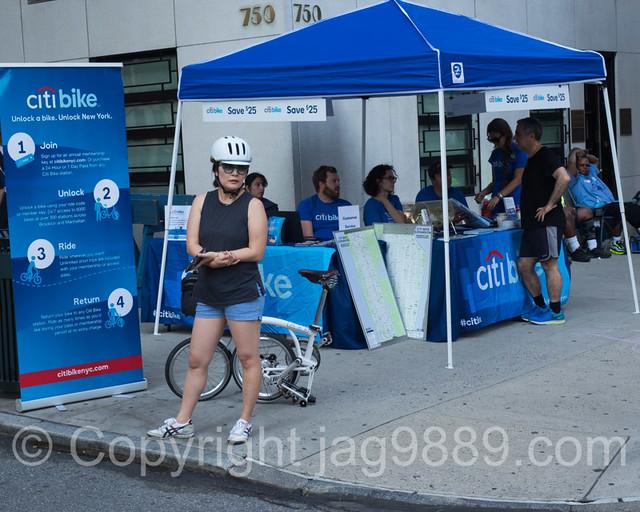 Citi Bike Booth, 2015 Summer Streets, Manhattan, New York City