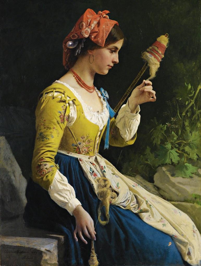Eleuterio Pagliano - La Filatrice (1869)